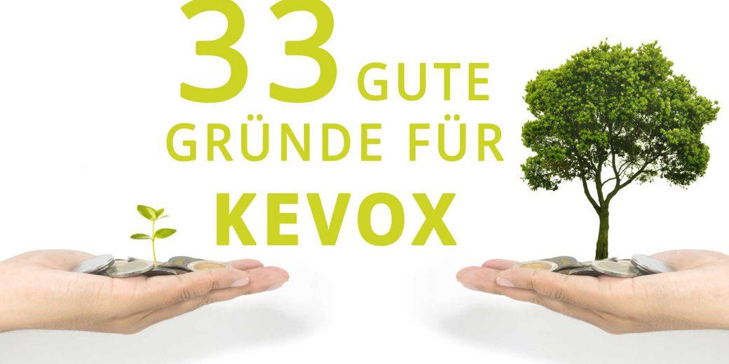 Titelbild_33_Gruende_fuer_Kevox