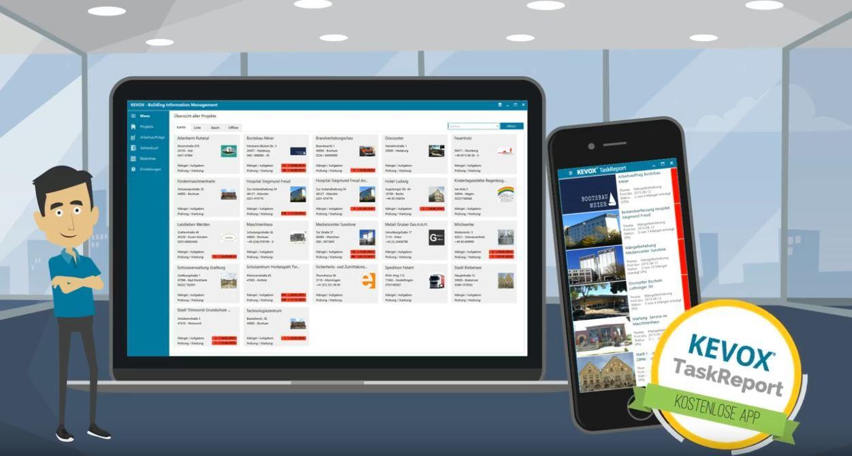 Mängelmanagement auf dem Smartphone - TaskReport, die KEVOX App