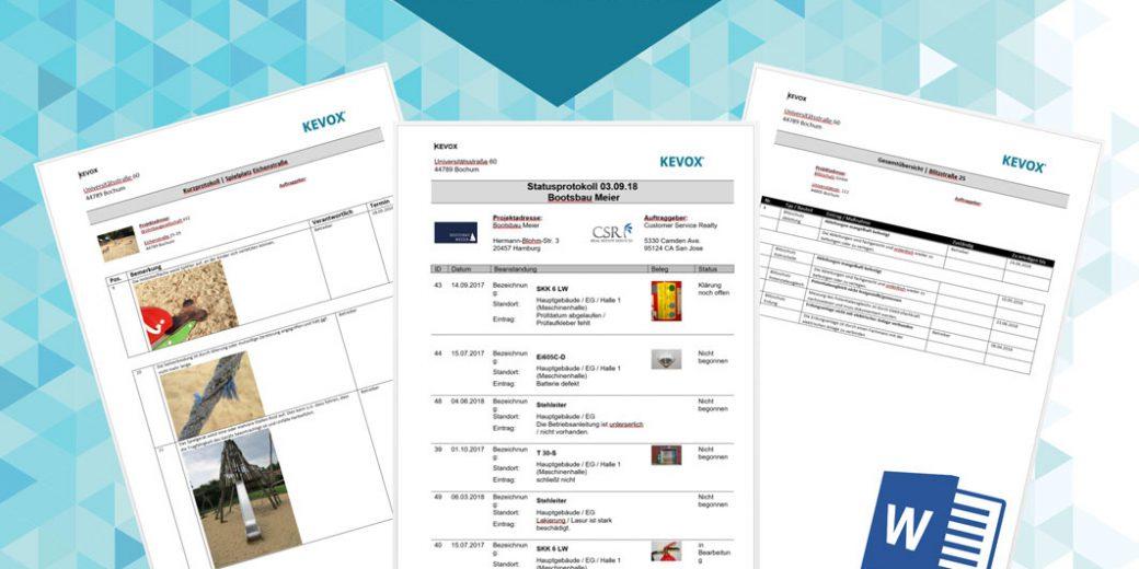 Word-Excel-Protokoll-Bericht-KEVOX