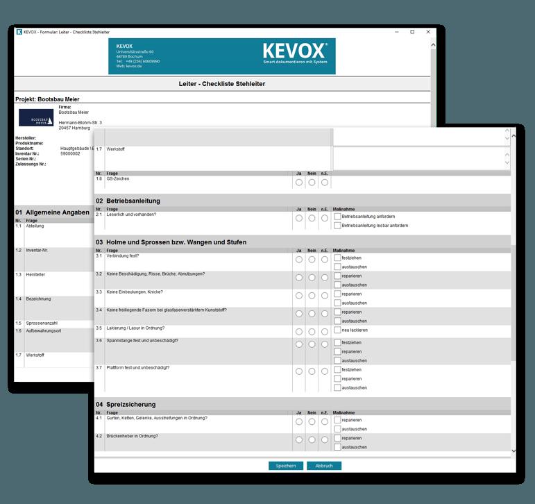 Digitale Leiterprüfungs-Checklisten erleichtern die Leiterprüfung nach DGUV