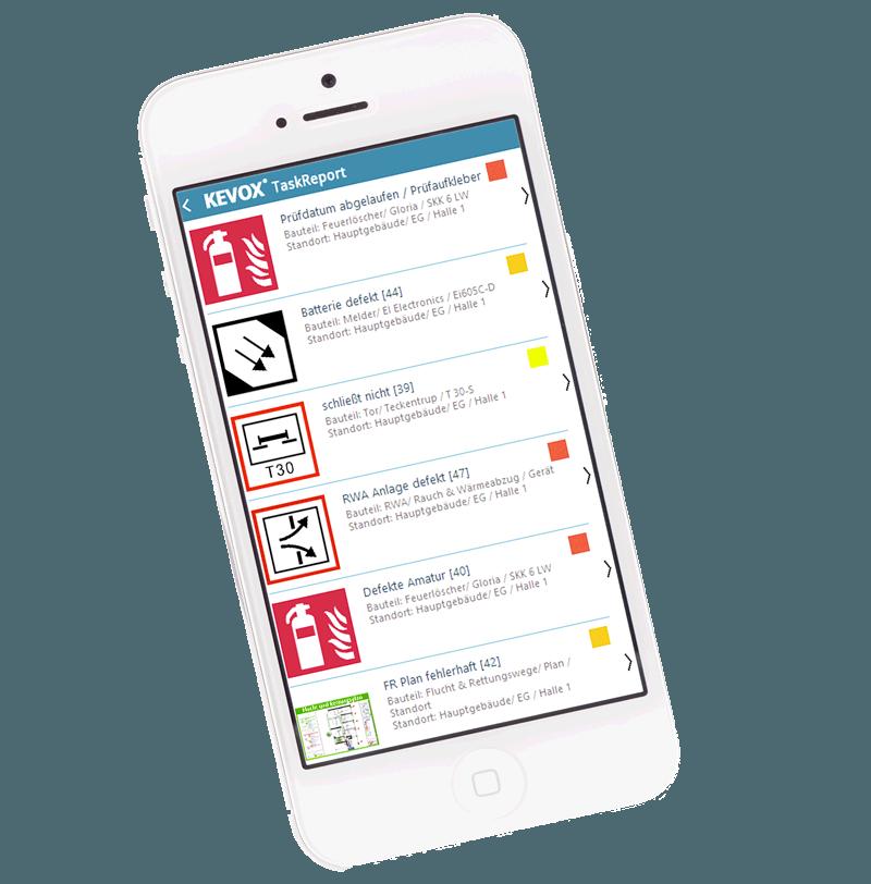 KEVOX-TaskReport-App zum vergeben von Aufgaben an Dritte Zuständige