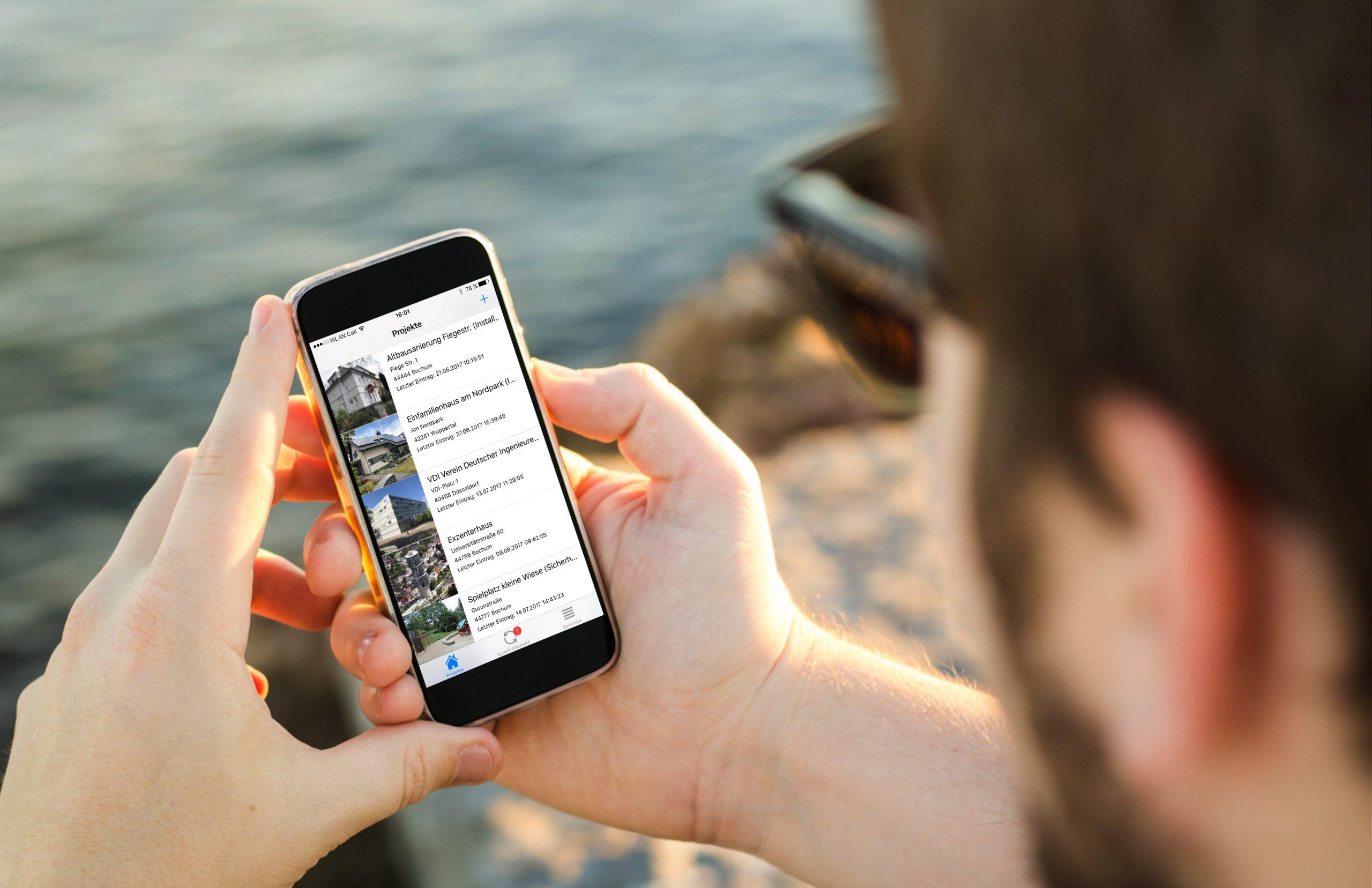 Mängelmanagement auf dem Smartphone per KEVOX GO App