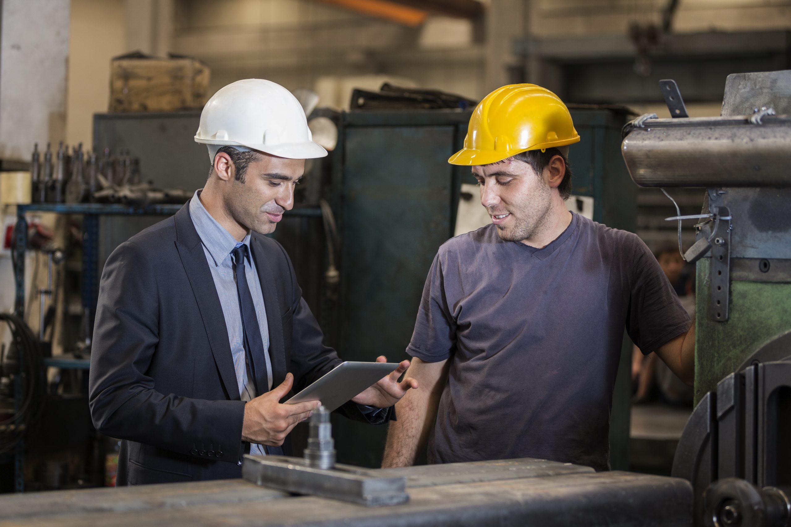 Arbeitsschutzdokumentation Unterweisung an einer Maschine