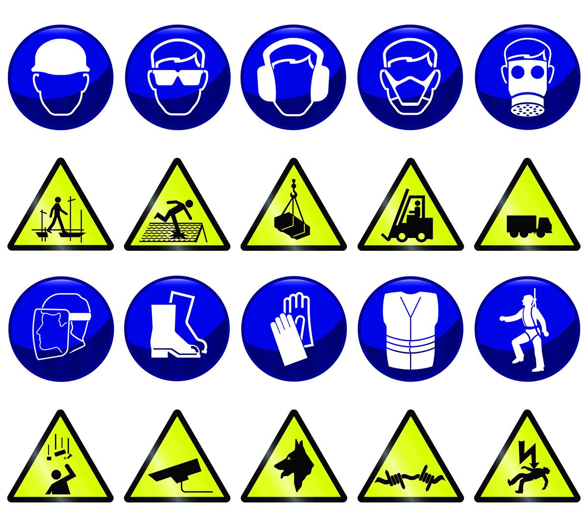 Arbeitsschutz Symbole